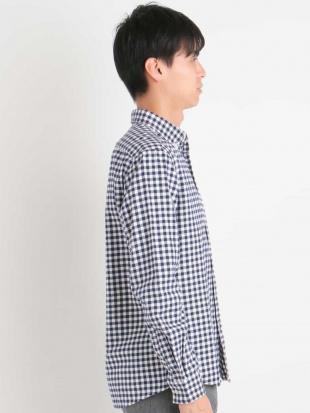 ネイビー キモウギンガムボタンダウンシャツ[WEB限定サイズ] a.v.v HOMMEを見る