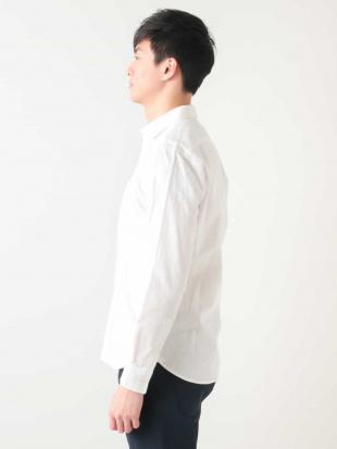 ホワイト 綿麻シャツ[WEB限定サイズ] a.v.v HOMMEを見る