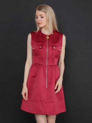 レッド フロントポケットジップドレス IMPORTED TARA JARMONを見る