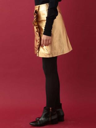 ゴールド メタリックデザインフリルスカート IMPORTED TARA JARMONを見る
