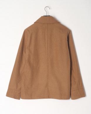 CML ウール混メルトン丸襟コートを見る