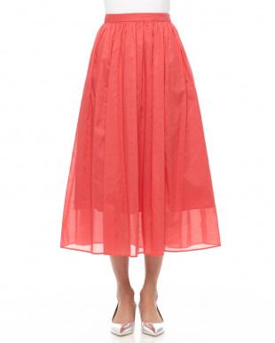 赤 カラーマキシスカートを見る