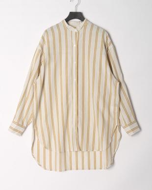 ヴィンテージイエロー スタンドカラーシャツを見る
