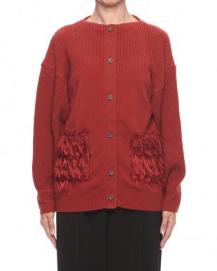 オレンジブラウン Fringe pocket knit C/Dを見る