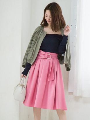 ピンク ツイルウエストリボンスカート MERCURYDUOを見る
