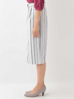 ライトグレー 【洗える】ランダムストライプタイトスカート OFUONを見る