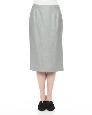 グレー系 シルクウールストレッチスカートを見る