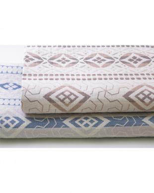 ベージュ 三重織ガーゼ毛布を見る