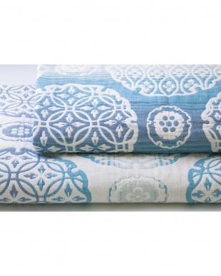 ブルー 五重織ガーゼ毛布を見る
