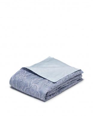 ブルー 肌掛羽毛布団を見る