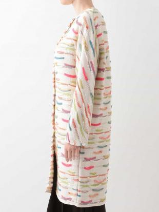 オフホワイト ミックスカラーデザインコート Sybilla を見る