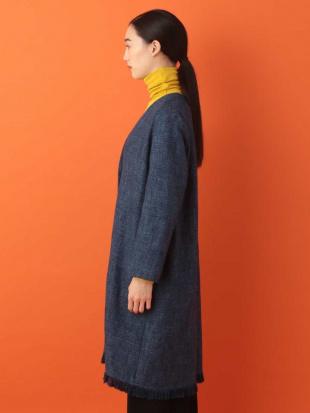 ブルー コットンツイードデザインコート Sybilla を見る