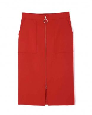 レッド [WEB限定商品]ジップタイトスカート BOSCHを見る