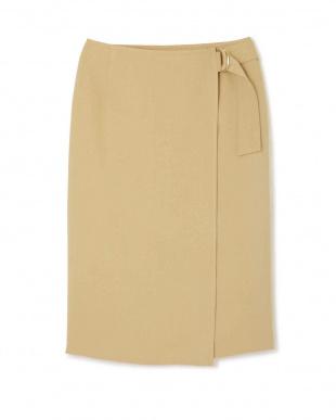 ベージュ [WEB限定商品]《B ability》ラップタイトスカート BOSCHを見る