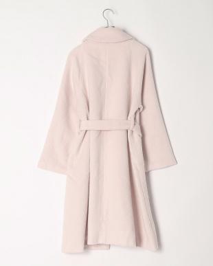 ピンク シャギーガウンコートを見る