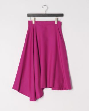 オーキッドパープル  ウール混ビエラ変形スカートを見る