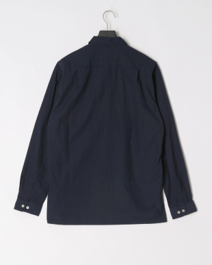 NAVY LOOSE FIT OPEN COLLAR SHTを見る
