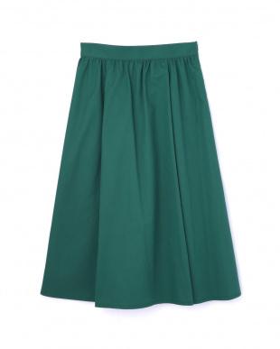 グリーン カラーフレアスカート ナチュラルビューティBを見る