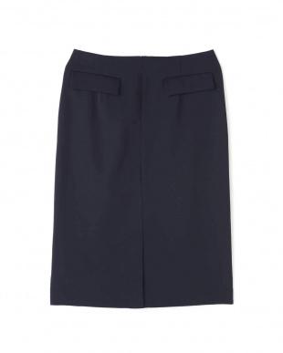 ネイビー [WEB限定]フラップポケットタイトスカート/セットアップ対応 ナチュラルビューティBを見る