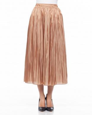 グレイッシュピンク シワサテンスカートを見る