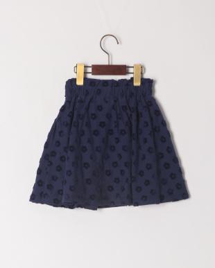 ネイビーブルー 花JQスカートを見る