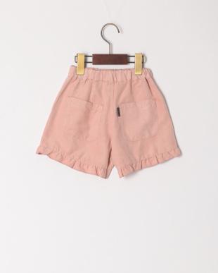 ピンク フリル付ショートパンツを見る