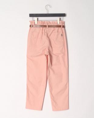 12/赤系C(ピンク) ベルト付きタックパンツを見る