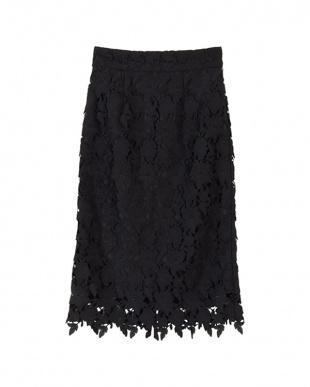 ブラック レースタイトスカートを見る