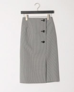 グリーン チェックリバースカートを見る