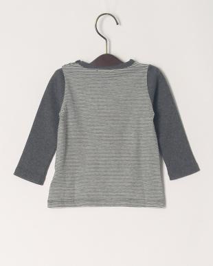 チャコール ボーダーロゴPT ベビーL/S Tシャツを見る