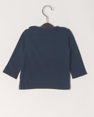 ネイビー 16/-サークルエアーテンジクロゴPT ベビーL/S Tシャツを見る