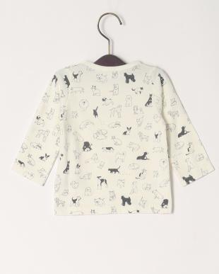 ホワイト 20/-ソフトテンジク イヌトネコPT ベビーL/STシャツを見る
