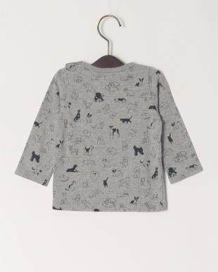 グレー 20/-ソフトテンジク イヌトネコPT ベビーL/STシャツを見る