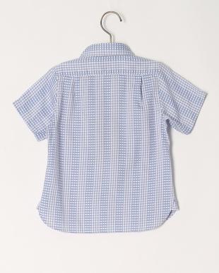 ブルー  チェック S/Sシャツを見る