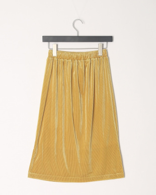Yellow ベロアストライプタイトスカートを見る