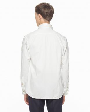 ホワイト 00480100062536Gコンパクトモックロディストライプシャツを見る