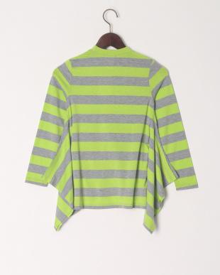 グリーン  ハート柄ボダーTシャツを見る