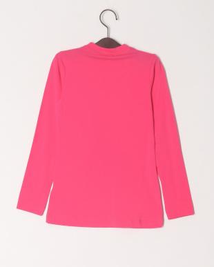 ピンク リボンプリントTシャツを見る