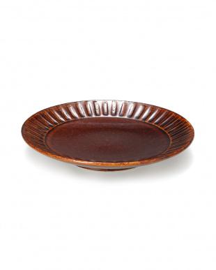 新飴釉しのぎ 段付6寸皿を見る