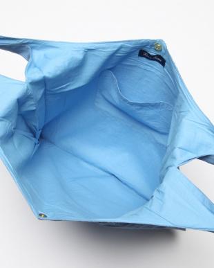 ブルー ワイドバッグ リネン レンクを見る