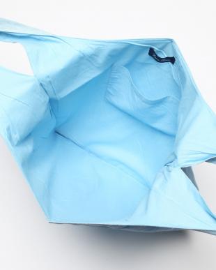 ライトブルー ワイドバッグ リネン レンクを見る