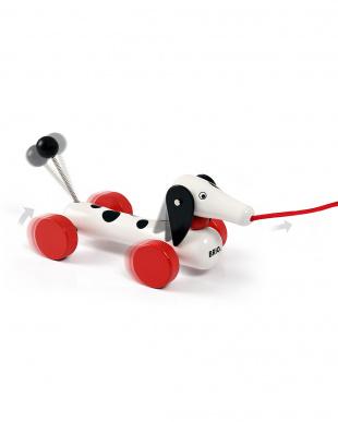 ダッチー60周年記念モデル 木製プルトイ 犬を見る
