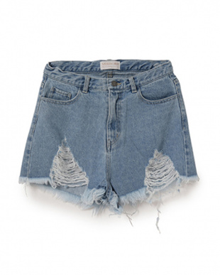 ブルー MIRROR9 Highwaist short pantsを見る