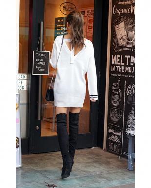 ホワイト BLIND FOR LOVE Knit Tunicを見る