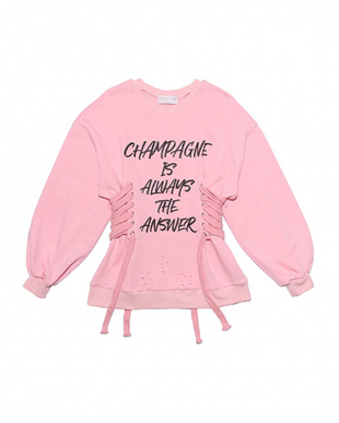 ピンク Lace up champagne sweatを見る