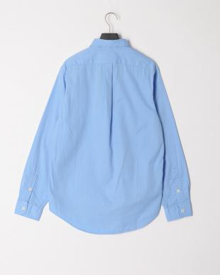 ブルー ダブルポケット 長袖シャツを見る
