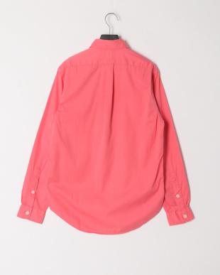 ピンク ダブルポケット 長袖シャツを見る