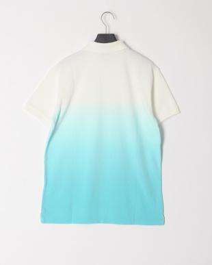 ホワイト/ライトブルー グラデーション半袖ポロシャツを見る