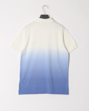 ホワイト/ブルー グラデーション半袖ポロシャツを見る