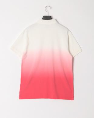 ホワイト/レッド グラデーション半袖ポロシャツを見る